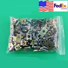 100pcs Mixed Car body door panel fastener screw U Type gasket fender clips USA