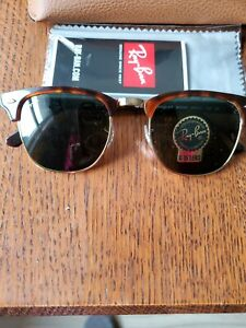 Authentic NEW Ray Ban Clubmaster Tortoise sunglasses Rb  3016 Size 49