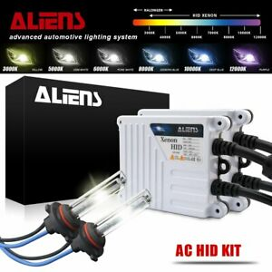 55W Aliens HID Xenon Headlight Pair Bulbs & Slim Digital Ballasts 9005 All Color