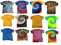 Multi-Color Tie Dye T-Shirts Kids & Adult Gildan Cotton 100% colortone-Gildan