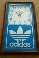 Vintage Quartz Adidas Wall Clock 22x14 SUPER RARE 80s vtg shell toe PROMO sample
