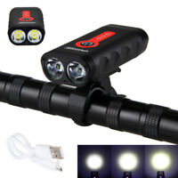 USB Rechargeable Bicycle Headlight Mountain Bike Cycle Front Rear Lamp Taillight