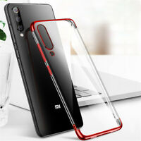 For Xiaomi Mi 9 SE 8 Lite Play Hybrid Plating Silicone Clear TPU Slim Case Cover