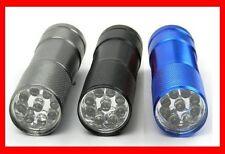 Taschenlampe mit 9 LED aus ALUMINIUM