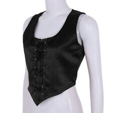 RENAISSANCE HALLOWEEN COSTUME MEDIEVAL DRESS-UP CORSET PIRATE TOP WENCH BODICE