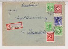 Bizone/AM-Post, Mi. 3z (3), 9z, MiF 933,917, Not-R-Heringen/Werra - Darmstadt,17