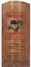 1930s Advertising Bag for Burch's Best Cheesies Popcorn Kansas City MO