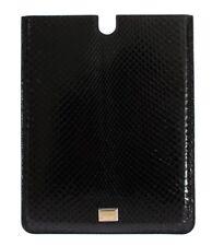 Nuevo Dolce & Gabbana Funda Tablet E-Book Cubierta Negro 100% Piton Snakeskin
