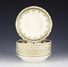 "10pc Brown, Westhead & Moore Co., Cauldon Berry Bowls 4.75"" 1881 Gilt on Cream"