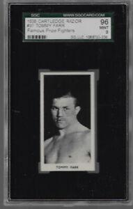 1938 CARTLEDGE  RAZOR # 37 TOMMY FARR 96 MINT 9 SGC HG FAMOUS PRIZE FIGHTERS