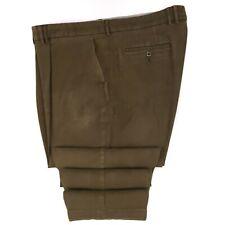 Barbour Moleskin Pants 46x31 Brown Single Pleat Trouser Cotton Blend Mens Pant