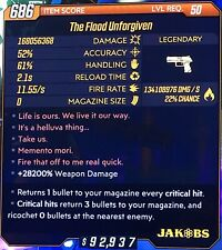 Borderlands 3 Modded Weapon The Flood Unforgiven (Xbox One)