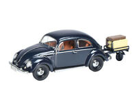 VW Beetle with Trailer in Storm Blue (1:43 scale by Schuco 03894)