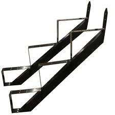3 Stufen Treppenrahmen Stahl-Treppenwange Treppenholm Geschosshöhe 53cm Schwarz