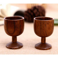 Confezione 2 tazza di legno naturale a mano caffè tè succo di birra