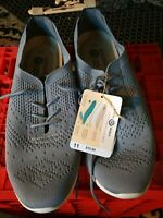 Earth Spirit Women's Size 10,11 Gelron Cushion Grey Knit Lace Up Shoes NWOB