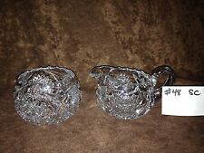 American Brilliant Cut Glass Sugar and Creamer #48SC