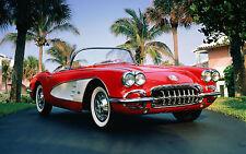 "Poster 24"" x 36"" Corvette Classic Car 1960"