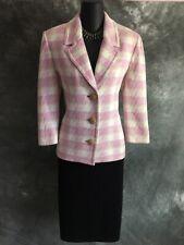 BEAUTIFUL St John knit jacket pink ivory suit blazer size 10
