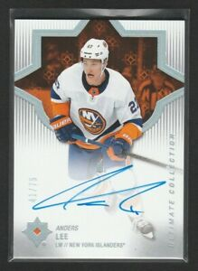 2018-19 Ultimate Collection Anders Lee Auto 41/75