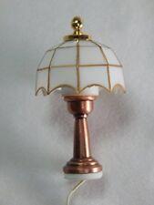 Heidi Ott White Tiffany Table Lamp, Dolls House Miniature Light, Miniatures