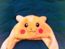 Pokemon Pikachu plush winter hat with scarf mits