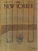 1977 New Yorker September 26 - Swinging in the park in Queens - Tallon