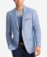 Lauren Ralph Lauren UltraFlex Chambray Sport Coat Mens 46R Lt Blue $295