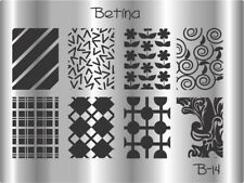 Plaque stamping BETINA B14