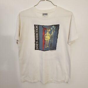 Vintage 1990 Janes Addiction Band T Shirt Size Large
