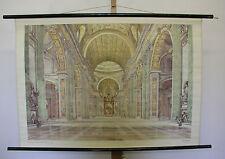 schönes altes Schulwandbild Wandkarte Renaissance 109x76cm vintage~1955 da Vinci
