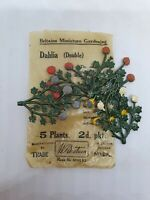 1930 issue 5 x Pre-war Britains 54mm cast lead Double Dahlia in original pack