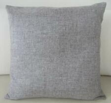 Mid Pale Grey Solid Double Sided Linen Look Cushion Cover 45cm