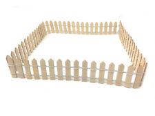 Mini steccato legno x vasi piantine staccionata ritagliabile recinto decorativo