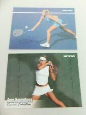 (2) Anna Kournikova 2003 Netpro Rookie Cards #G-10 & #4