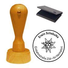 Stempel « Edelweiß Edelweiss » Adressenstempel Motivstempel Holzstempel