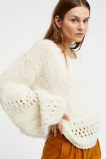 Free People So soft! Powder Puff Pullover Sweater Size Medium Large M L NWT $168