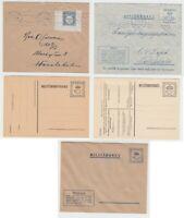 Schweden - Fünf Feldpost-Belege ab 1943 - bitte ansehen !!!