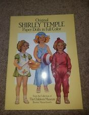 Vintage Shirley Temple paper doll cut outs. UNCUT
