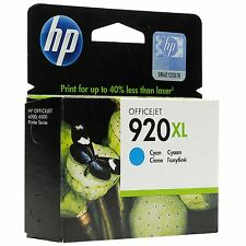 ORIGINAL HP 920XL cyan CD972AE pour offijejet 6500 7000 7500 MHD 02/2015