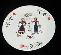 Homer Laughlin Rhythm AMERICAN PROVINCIAL Farmer & Wife Dinner Plate 1955
