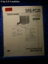 Sony Service Manual SRS PC30 Active Speaker System (#4780)