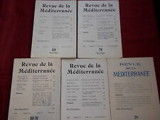 """REVUE DE LA MEDITERRANEE"" 5 Nos (1948-1959) ALGER / ART / PHILO / CHRONIQUES"