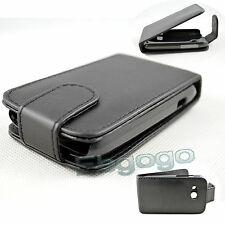 Black PU Leather Cover Case Skin Flip Pouch Cover Case For HTC Desire C A320E