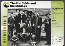 THE HATFIELD and McCOY FAMILY FEUD Picture History GROLIER STORY OF AMERICA CARD