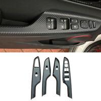 For Hyundai Encino Kona 18-2021 Window Lift Panel Switch Cover Trim Carbon Fiber