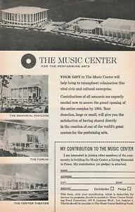 1963ad Los Angeles The Music Center for the Performing Arts contribution request