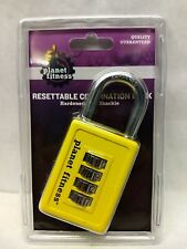 Planet Fitness Combination Lock for Bike or Gym Locker, Resettable