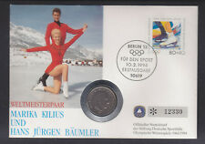 1994 WINTER OLYMPICS  COIN COVER WITH 1 KRONA  SIGNED  ON BACK.