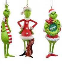Dr. Seuss Kurt Adler The Grinch Christmas Ornaments New In Boxes 2019 Edition